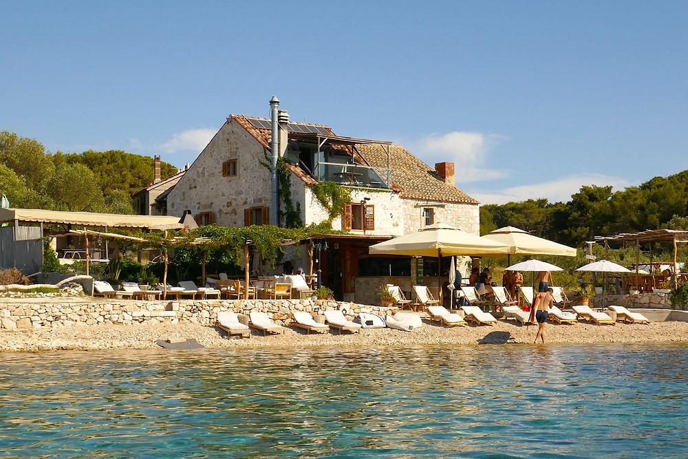 Mamato Bar on Pakleni Islands, Croatia