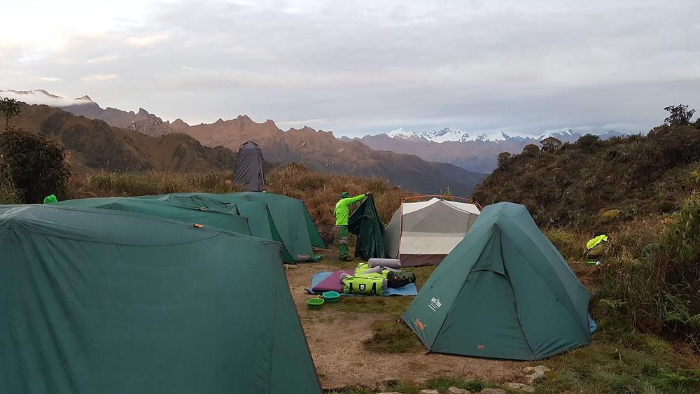 Camp site on the Inca Trail, Peru