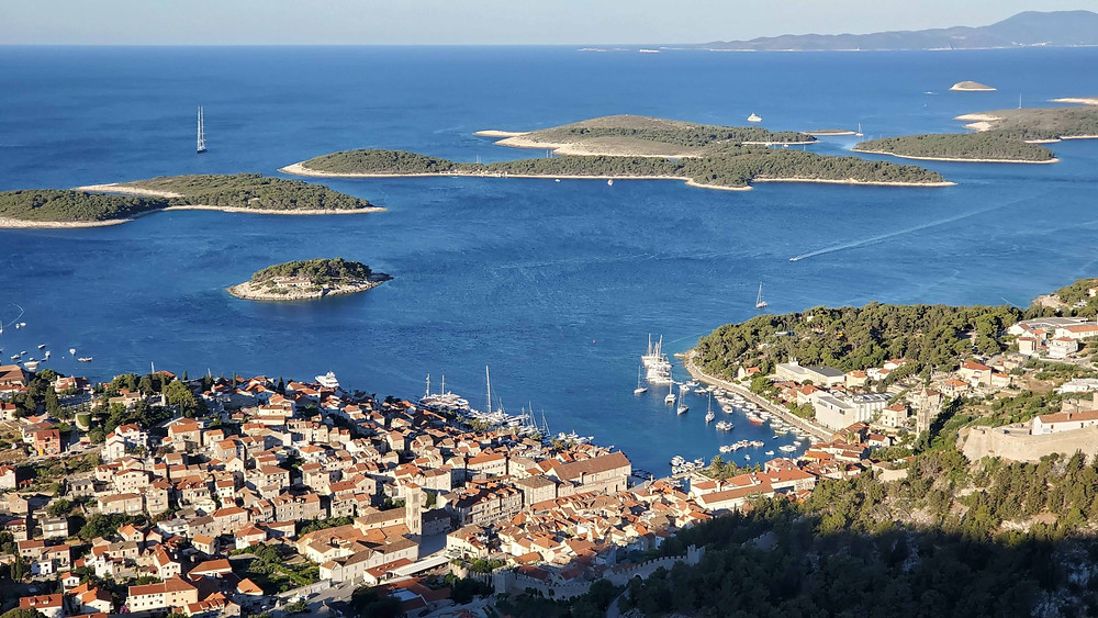 View of Pakleni Islands from Hvar