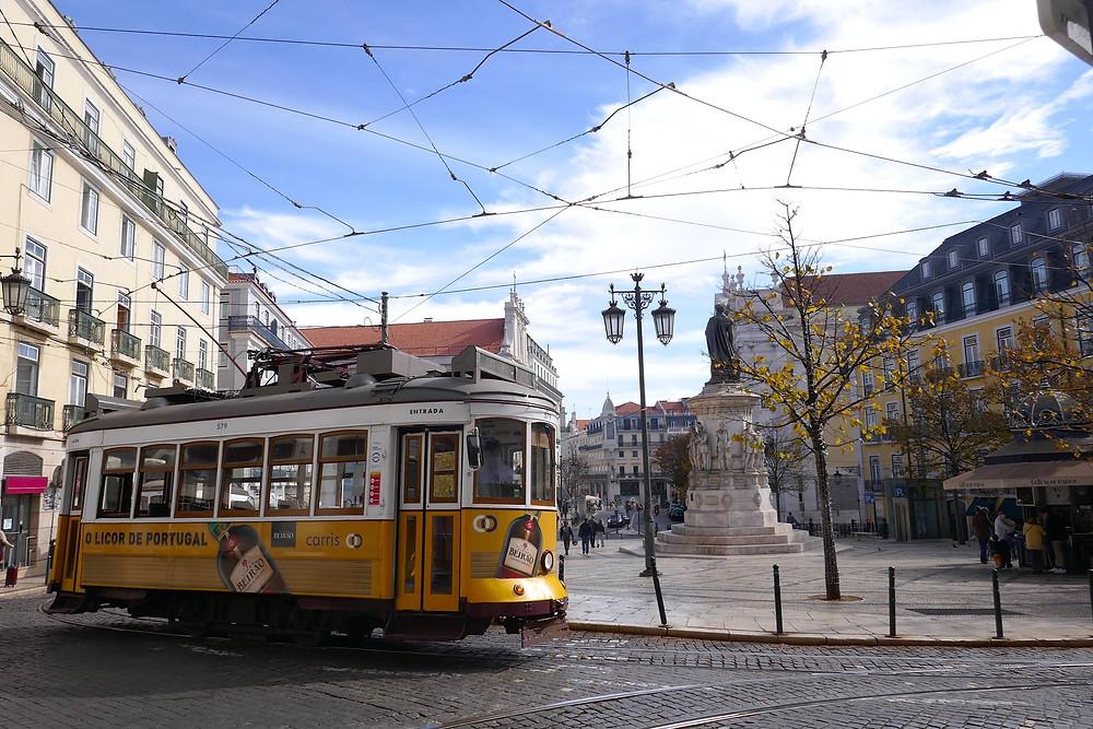 Iconic tram in Lisbon