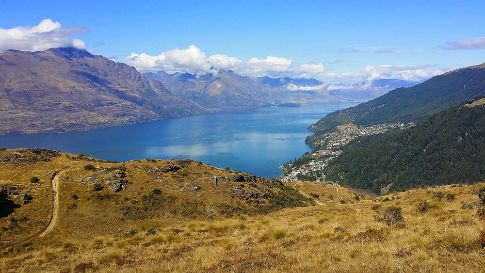 View from Queenstown Hill, Queenstown, New Zealand