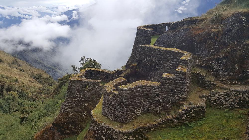 Stone ruins on Inca Trail, Peru
