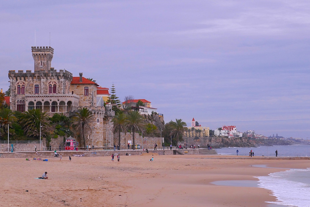 A sandy beach in Cascais, Portugal