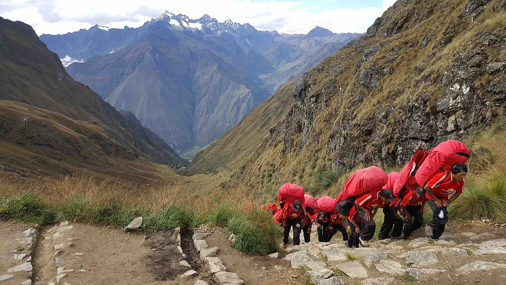 Porters on Inca Trail, Peru