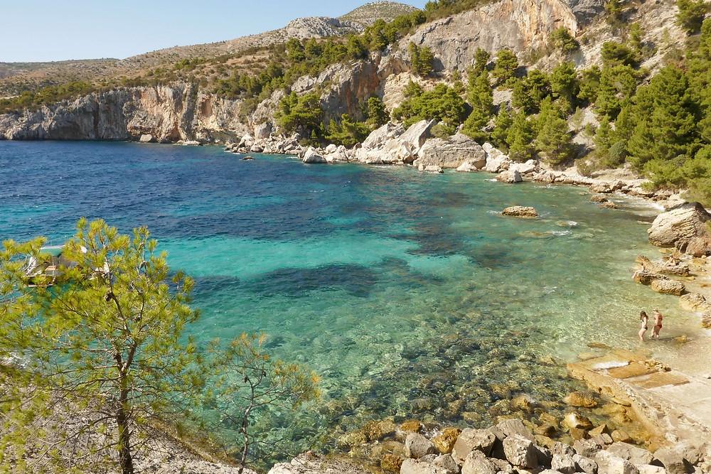 Malo Zarace Beach, Island of Hvar, Croatia