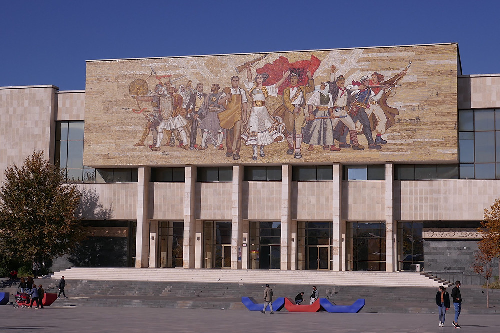 National History Museum at Skanderbeg Square, Tirana Albania