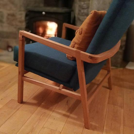 Solid oak armchair