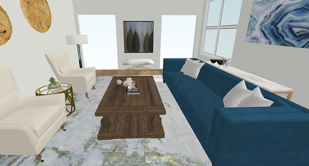 3D digital interior design boards allow you to really see the finished product of our design ideas!