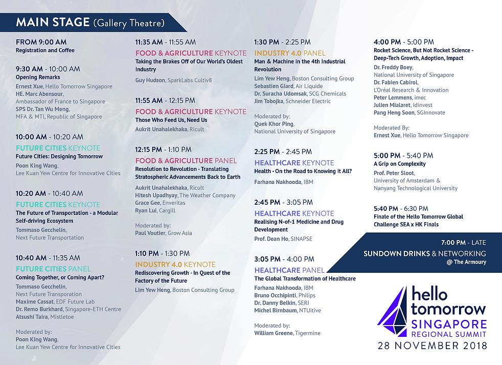 HTSG Regional Summit - Programme (Main S