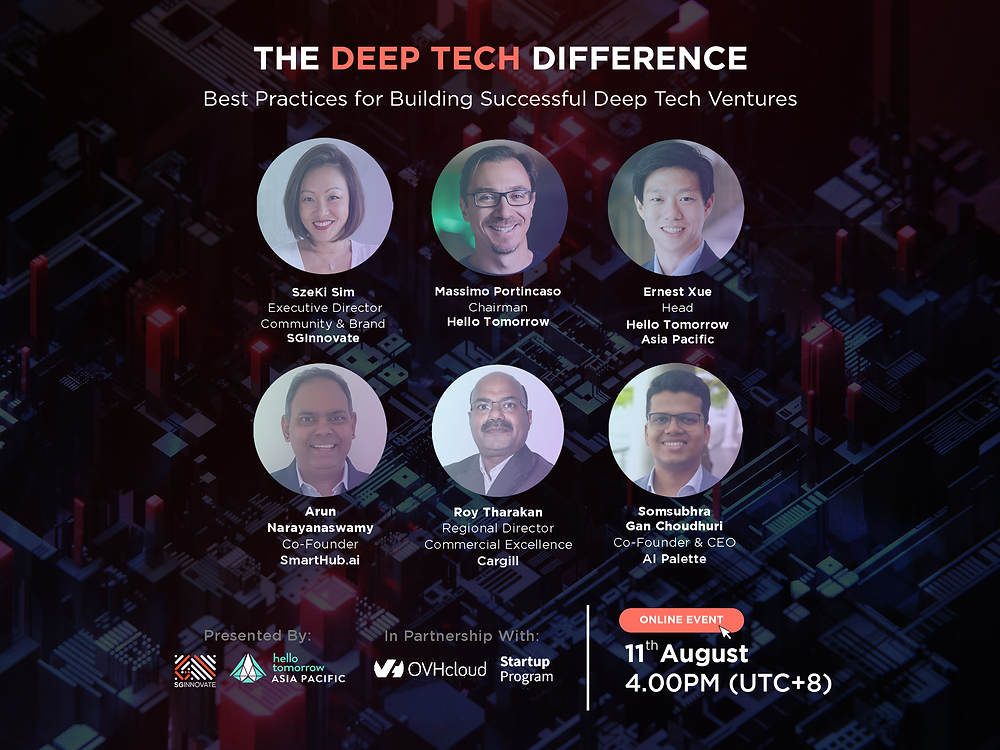 Hello Tomorrow and SG Innovate event - The Deep Tech Difference: Best Practices for Building Successful Deep Tech Ventures