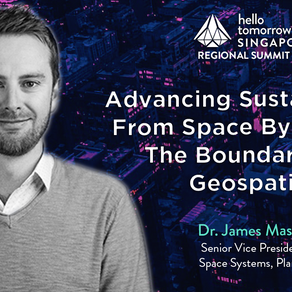 Advancing Sustainability from Space by Pushing the Boundaries of Geospatial | Dr. James Mason