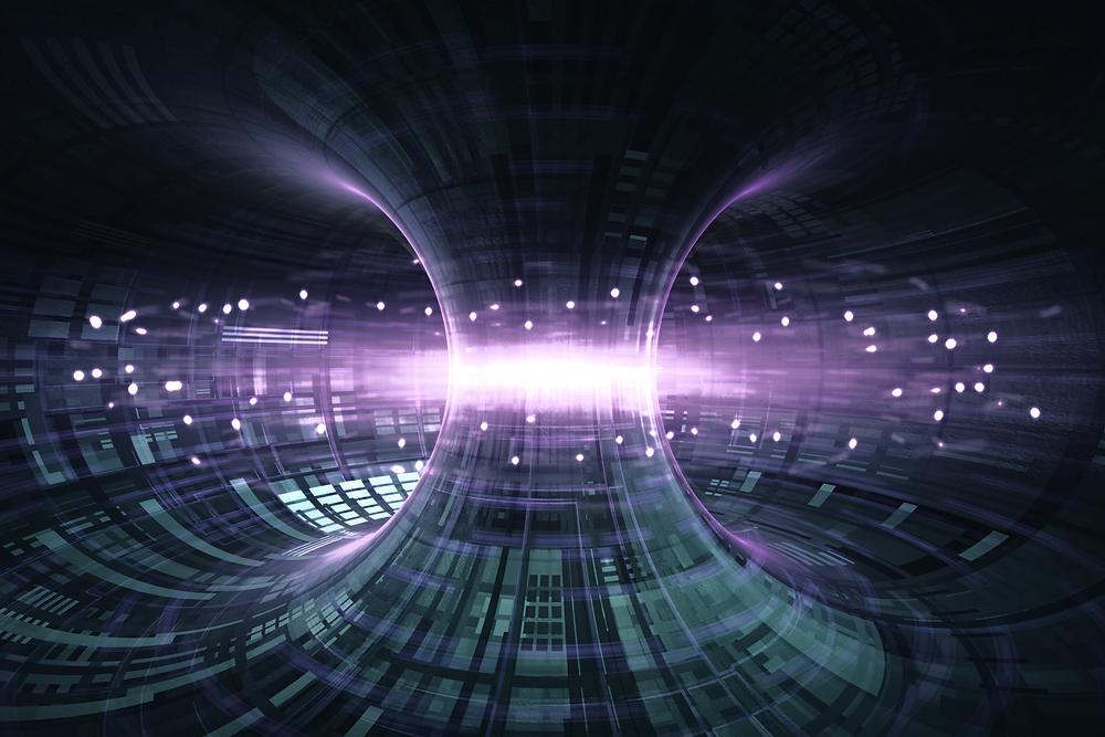 High Energy Particles Flow Through A Tokamak Or Doughnut-Shaped Device