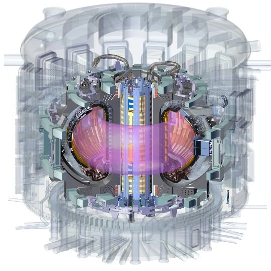 A tall electromagnet--the central solenoid--is at the heart of the ITER Tokamak. It both initiates plasma current and drives and shapes the plasma during operation.