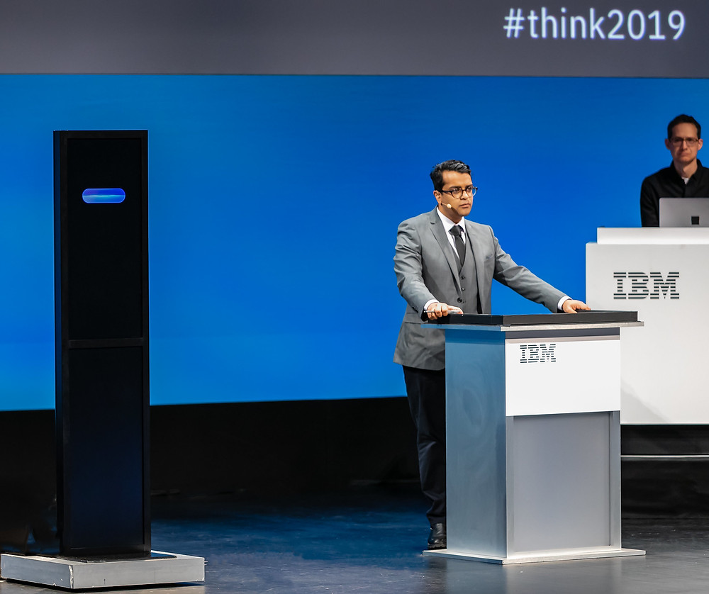 Harish Natarajan, who holds the world record for most debate competition victories, took on IBM Project Debater, the first AI system that can debate humans on complex topics, at a live debate at IBM Think 2019.
