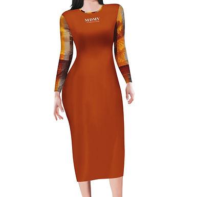 Evening Long Sleeve Bodycon Dress
