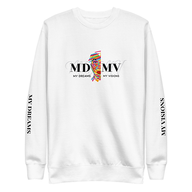 MDMV Logo White Fleece Pullover