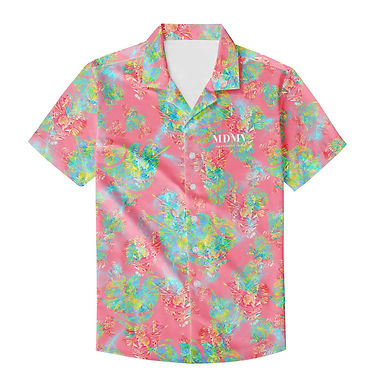 Pink Botanic Button Up Shirt