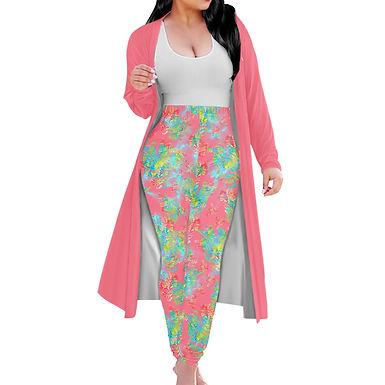 Pink Botanic Coat & Pants Set