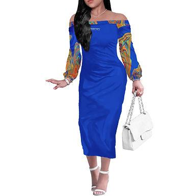 Amaze Long Sleeve Off Shoulder Dress