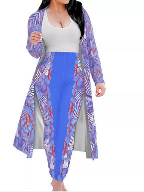 Azure Coat & Pants Set