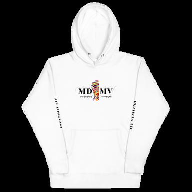 MDMV Logo White Hoodie