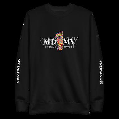 MDMV Logo Black Fleece Pullover