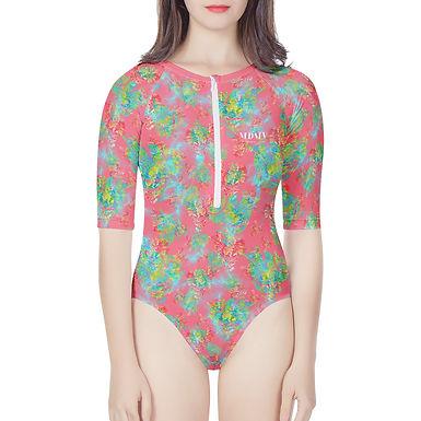 Pink Botanic Body Swimsuit