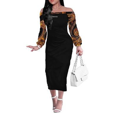 Virtue Long Sleeve Off Shoulder Dress