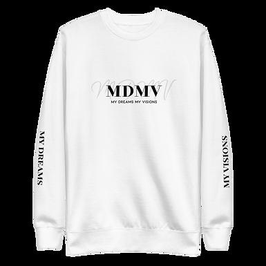 MDMV White Fleece Pullover