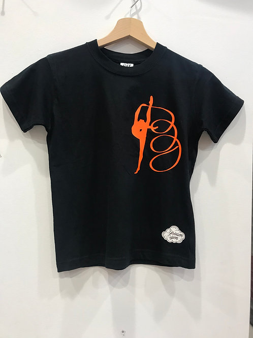 t-shirt ginnastica ritmica - black