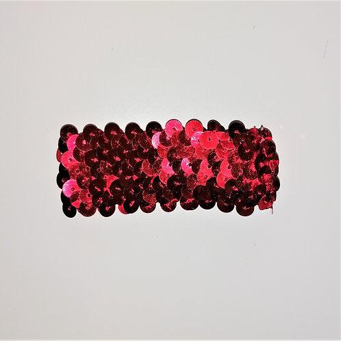 elastico paillettes rosso