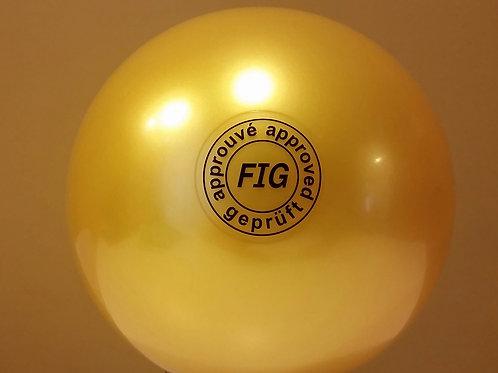 Palla monocolore metallizzata gialla