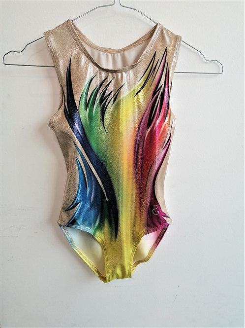 body in lurex stampato - rainbow
