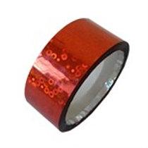 Nastro Adesivo Glitter Rosso