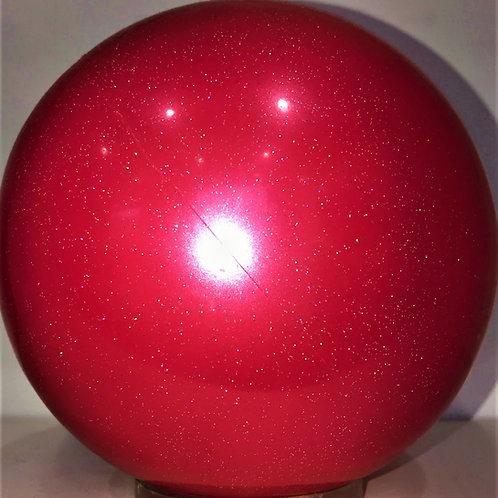 palla per corsi glitter rosso