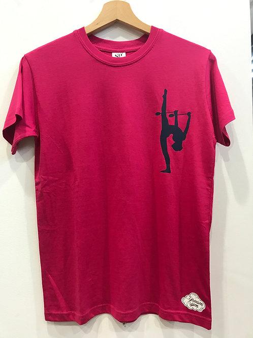 t-shirt ginnastica ritmica - fucsia