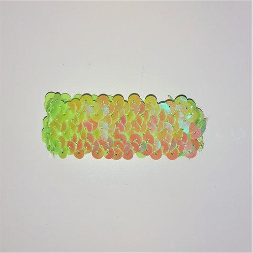 elastico paillettes verde lime