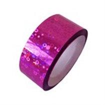Nastro Adesivo Glitter Fuxia