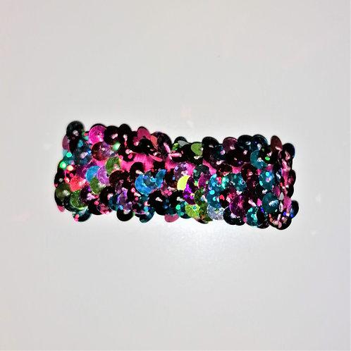 elastico paillettes multicolor glitter