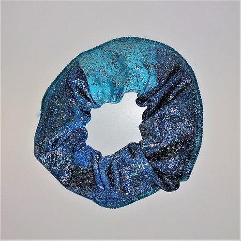 elastico glitter blu