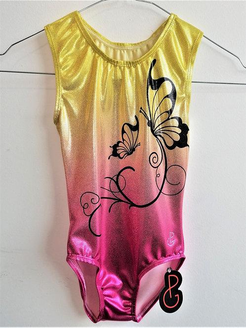 body in lurex stampato - giallo rosa