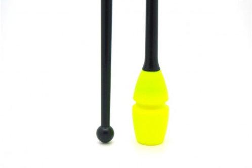 Clavette Venturelli giallo fluo/nero cm 41.50