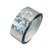 Nastro Adesivo Glitter Argento