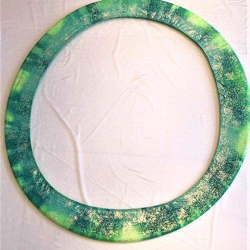 porta cerchio glitter verde