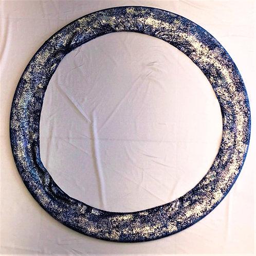 porta cerchio glitter blu-azzurro