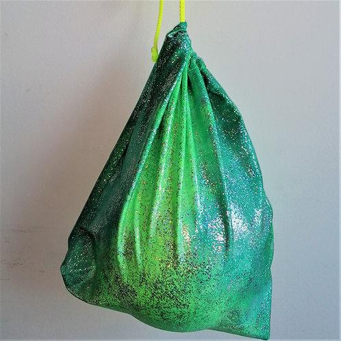porta palla glitter verde