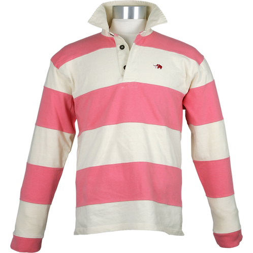 RELAXED FIT GESTREEPT RUGBY SHIRT