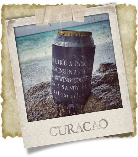 Ninefoot Koozie stubbie holder on Curacao