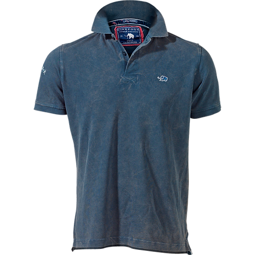 STONEWASHED PIQUÉ POLO SHIRT