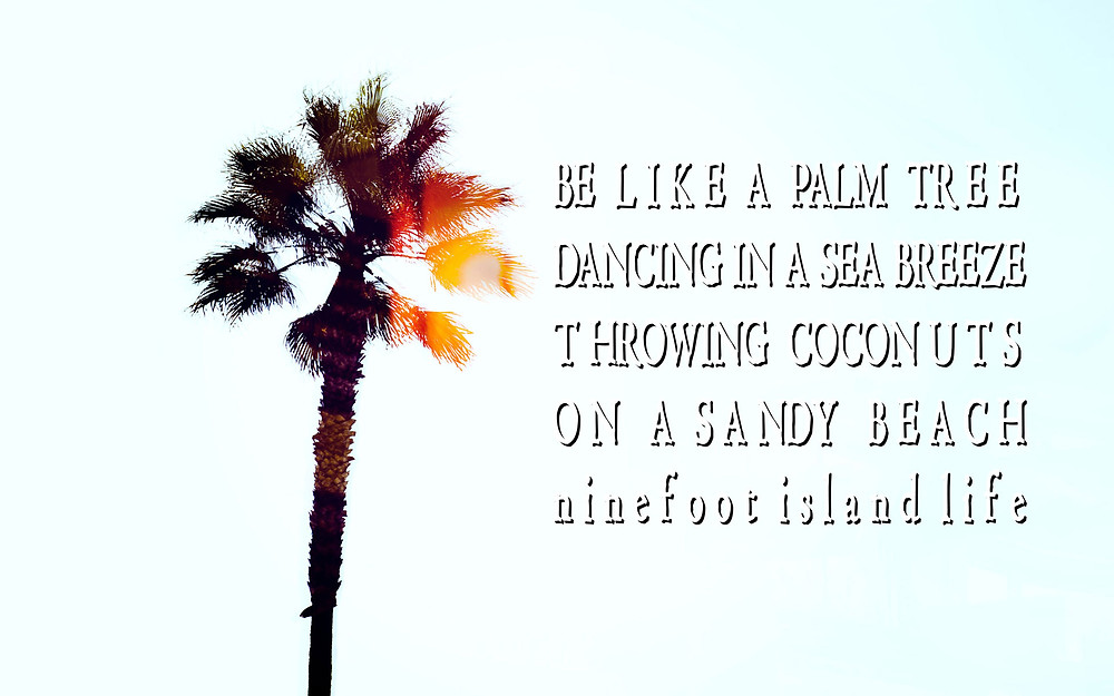 "Ninefoot's favorite Quote ""Be like a palm tree"""
